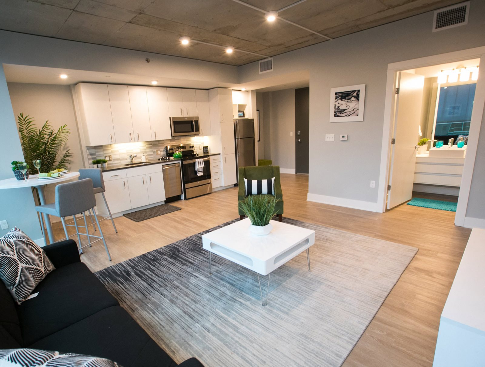 Room to Entertain at Venue Tower Apartments in Grand Rapids