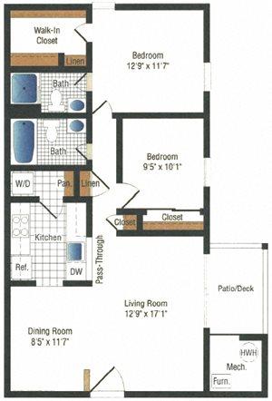 Lancaster Mill 2 Bedroom, 2 Bath