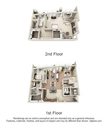 Penthouse 2 Bed 2.5 Bath Floor Plan 15