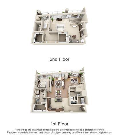 Penthouse 2 Bed 2.5 Bath