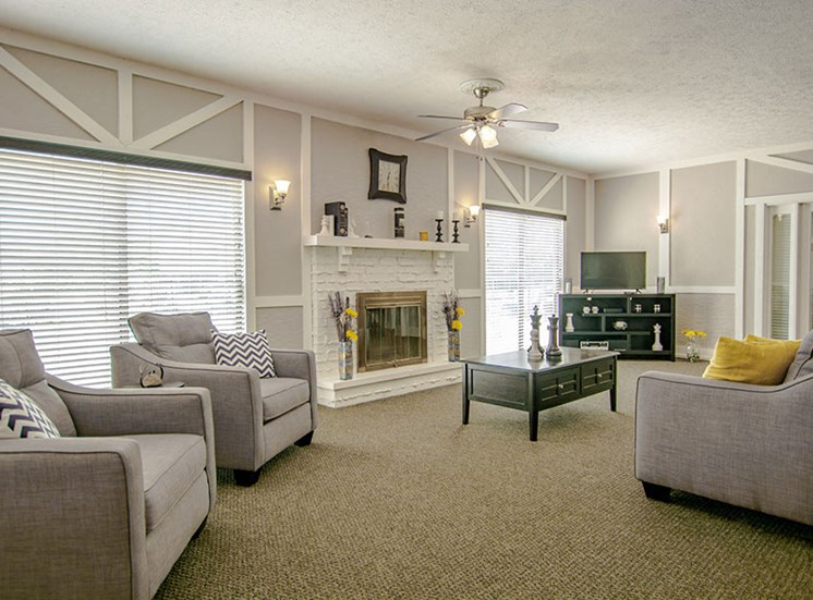 Large Clubhouse With Ample Sitting And Television at Lake Camelot Apartments, Indiana, 46268