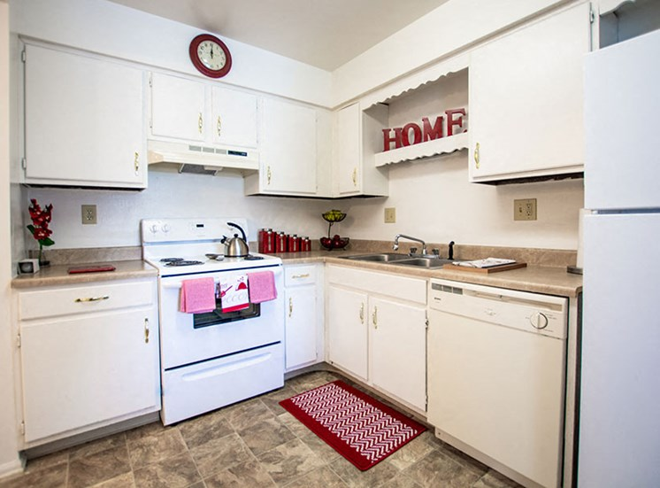 All Electric Kitchen at Lake Camelot Apartments, Indianapolis, Indiana