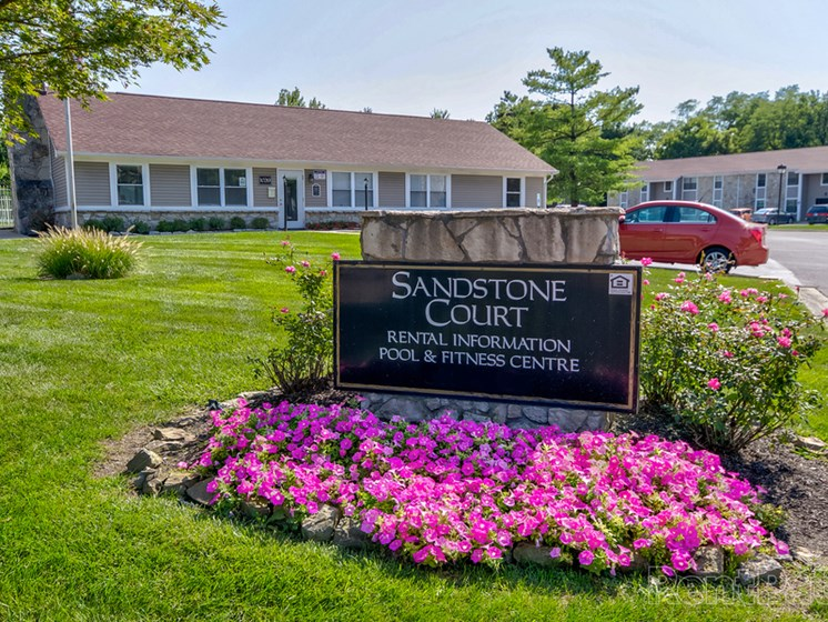 Classic Property Signage Designs at Sandstone Court Apartments, Indiana, 46142