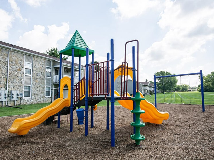 On - Site Playground at Sandstone Court Apartments, Greenwood, Indiana