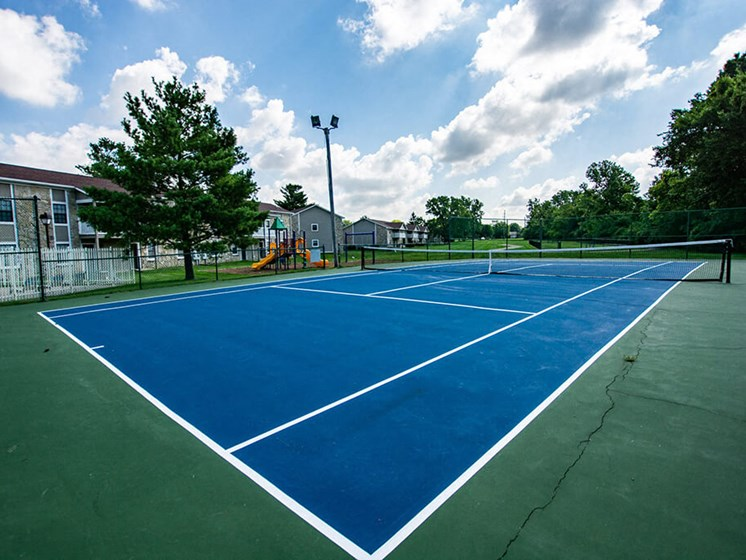 Full Sized Tennis Court at Sandstone Court Apartments, Greenwood