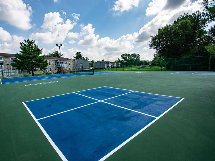 Synthetic Tennis Court at Sandstone Court Apartments, Indiana, 46142