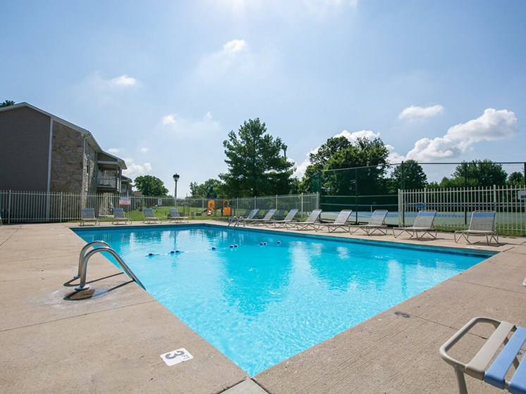 Relaxing Swimming Pool at Sandstone Court Apartments, Greenwood, IN
