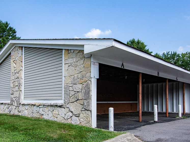 Carport at Sandstone Court Apartments, Indiana, 46142