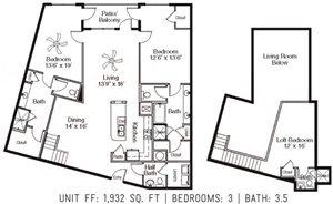 3 Bed 3.5 Bath FF
