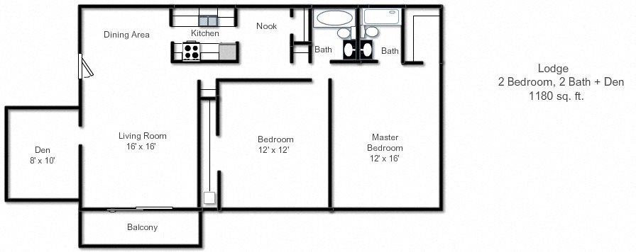 Floor Plans Of The Lodge Apartments In Indianapolis In