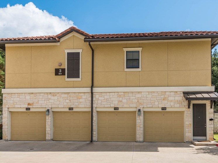 Community Garages at 3500 Westlake Apartments in Austin, TX