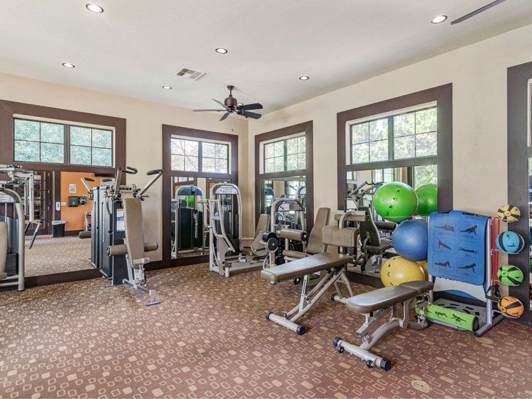 Community Gym at 3500 Westlake Apartments in Austin, TX