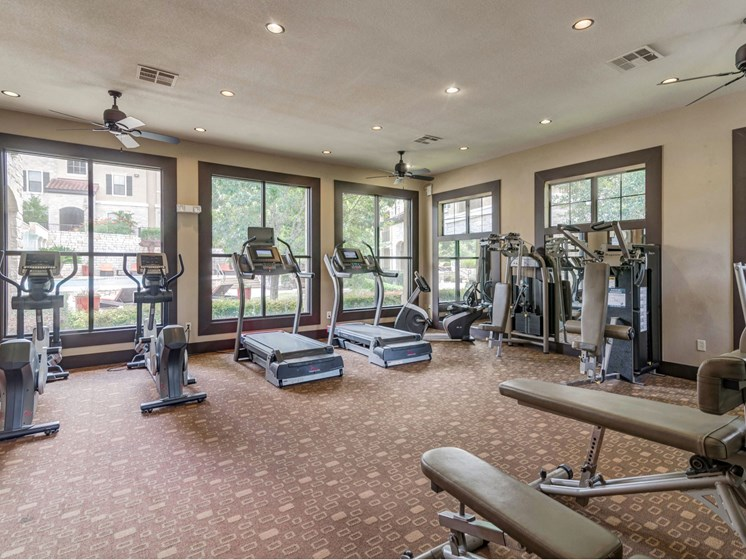 Modern Fitness Center at 3500 Westlake Apartments in Austin, TX