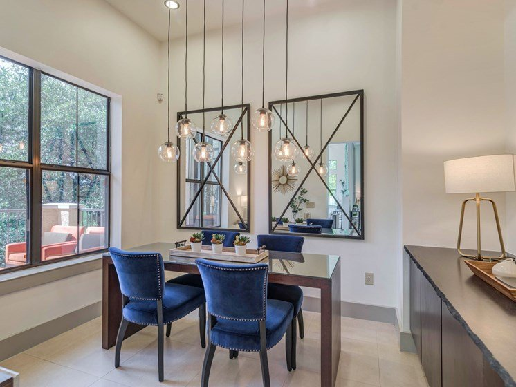 Fancy Dining Room at 3500 Westlake Apartments in Austin, TX