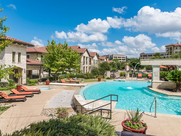 Large Outdoor Pool at 3500 Westlake Apartments in Austin, TX