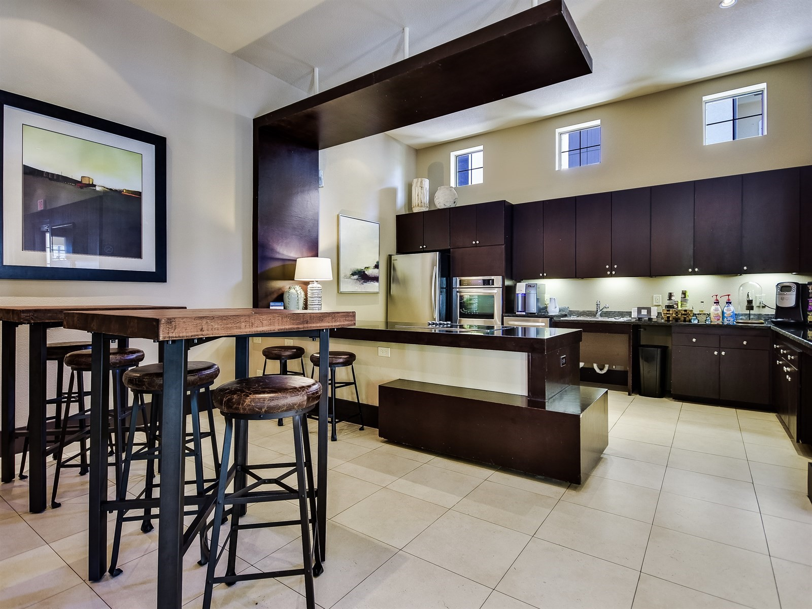 Community Kitchen - Amenities at 3500 Westlake Apartments in Austin, TX