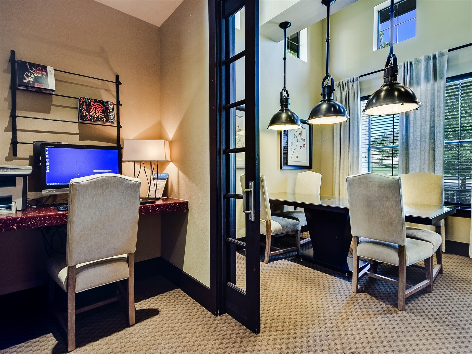 Business Center - Amenities at 3500 Westlake Apartments in Austin, TX