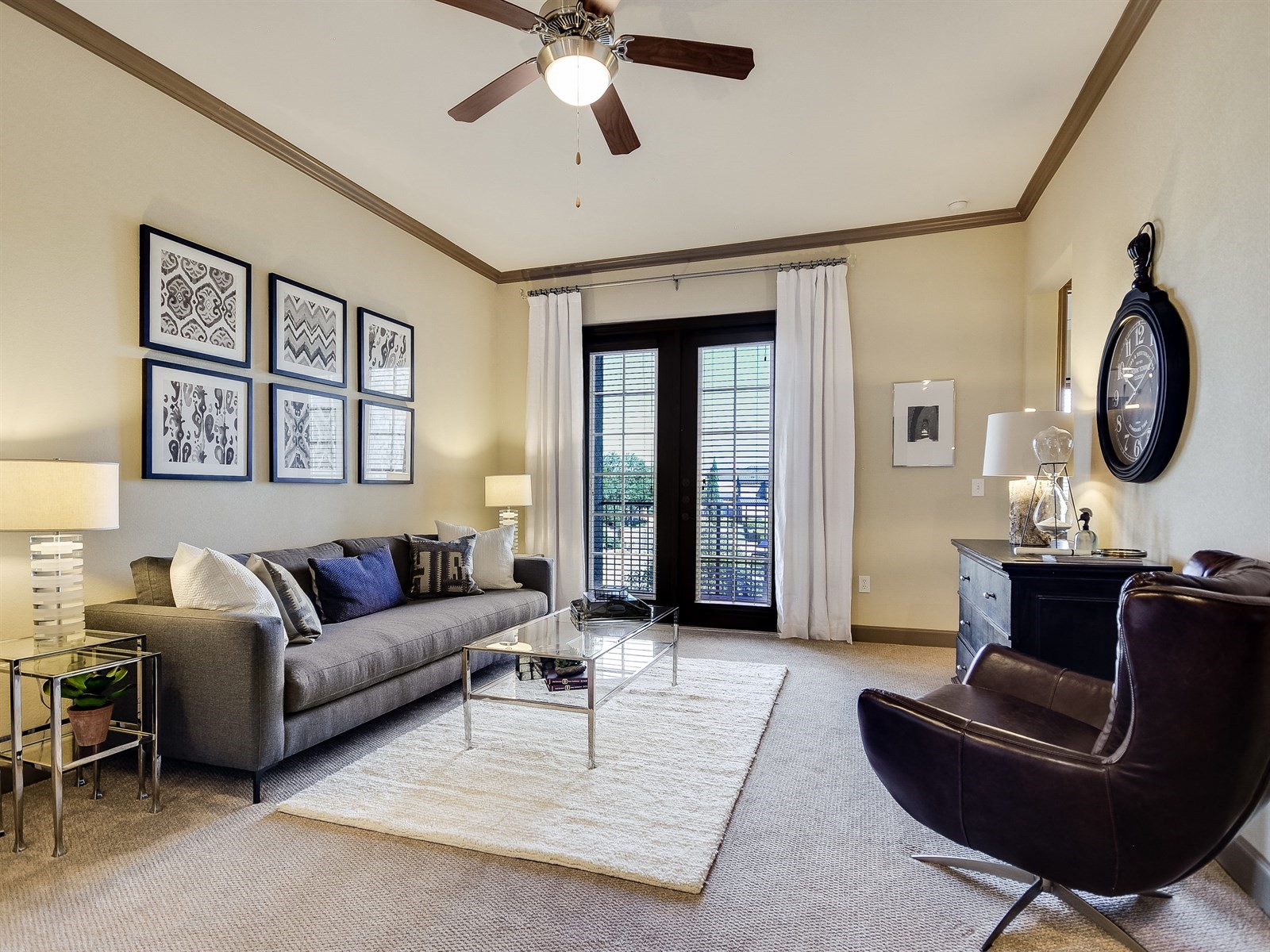 Contemporary Living Interiors at 3500 Westlake Apartments in Austin, TX
