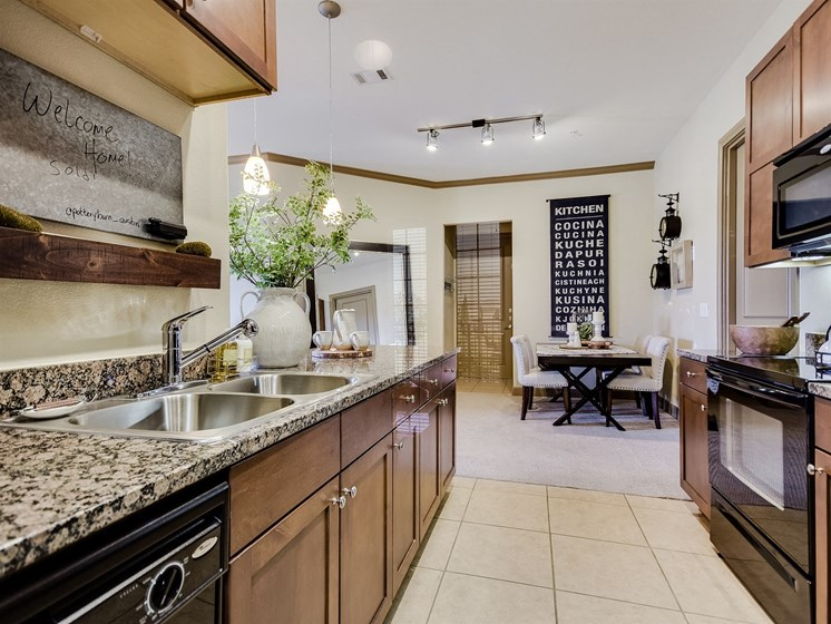 Kitchen Details at 3500 Westlake Apartments in Austin, TX