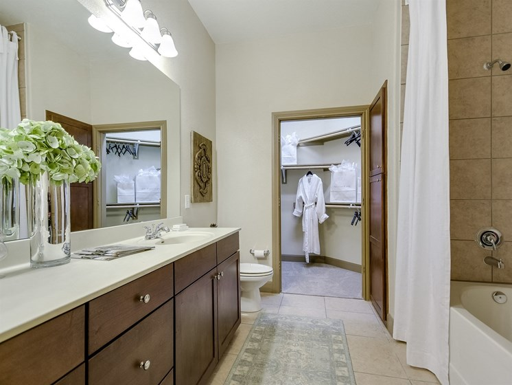 Luxurious Bathroom at 3500 Westlake Apartments in Austin, TX
