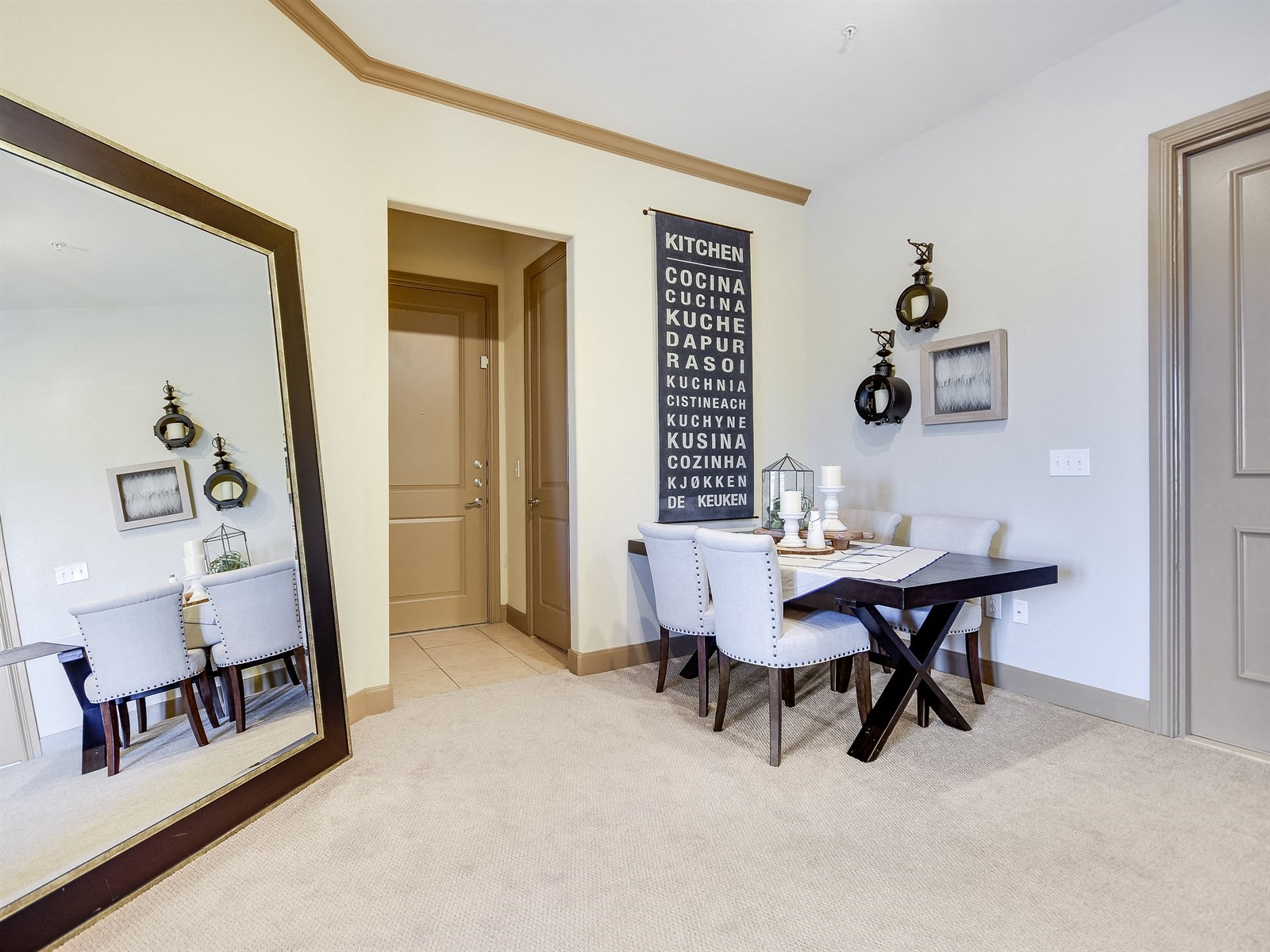 Modern Dining Area at 3500 Westlake Apartments in Austin, TX