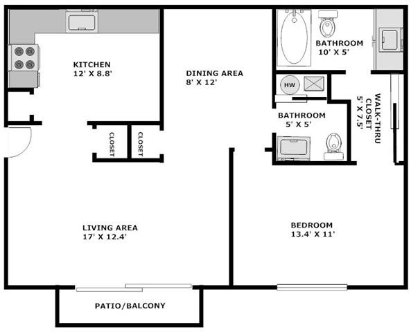 Floor Plans of Waterstone Place Apartments in Indianapolis, IN
