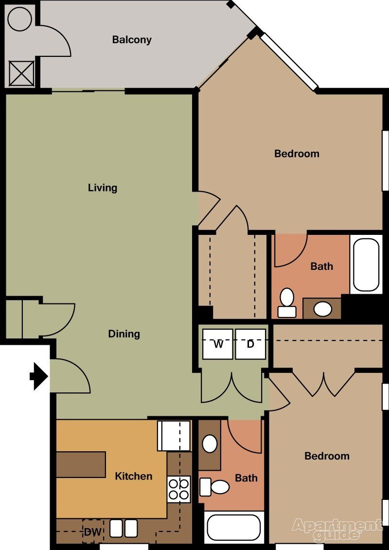 2 BED B Floor Plan 2