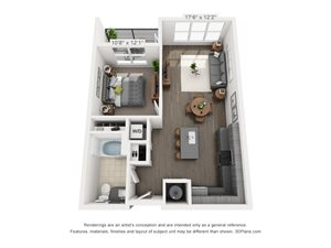 B1A 1 BEDROOM/1 BATH