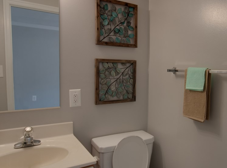 Falcon Crest Apartments and Townhomes Model Half Bathroom