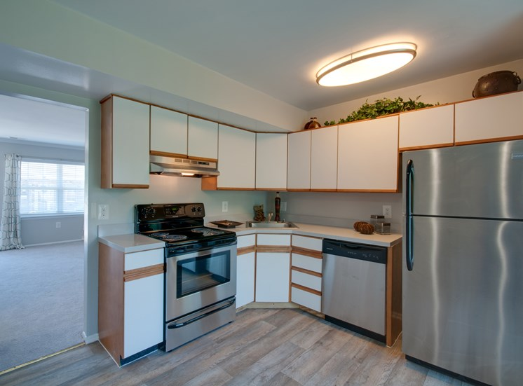 Falcon Crest Apartments and Townhomes Model Kitchen with Original Cabinetry