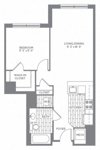 Floor plan at The Asher, Virginia