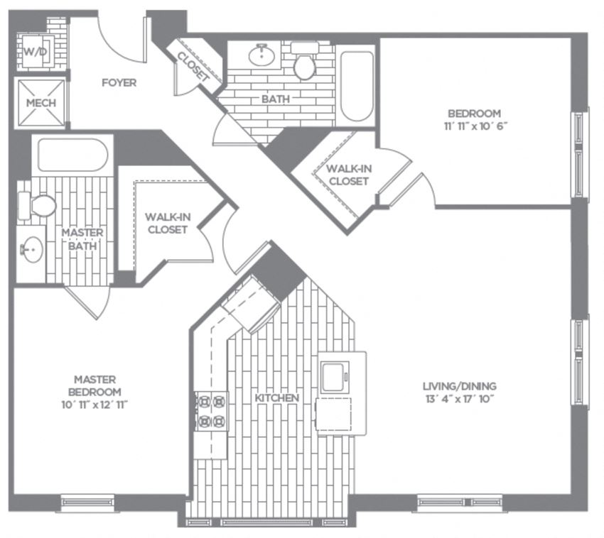 Floor plan at The Asher, Alexandria