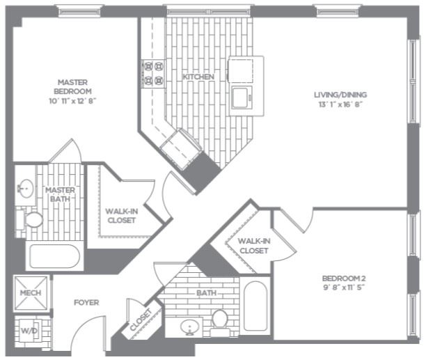 Floor plan at The Asher, Virginia, 22314