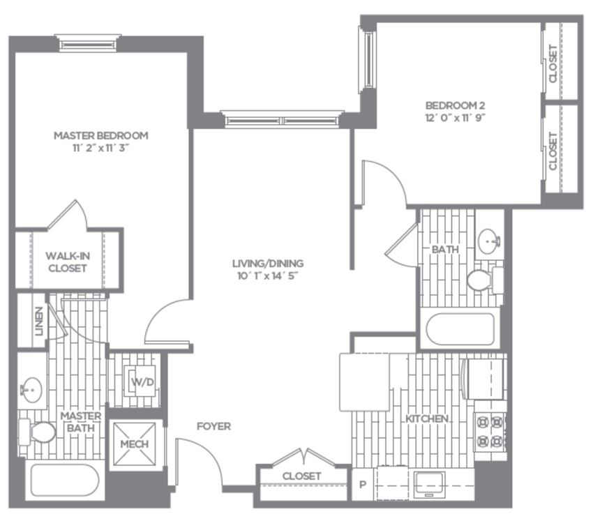 Floor plan at The Asher, Alexandria, 22314