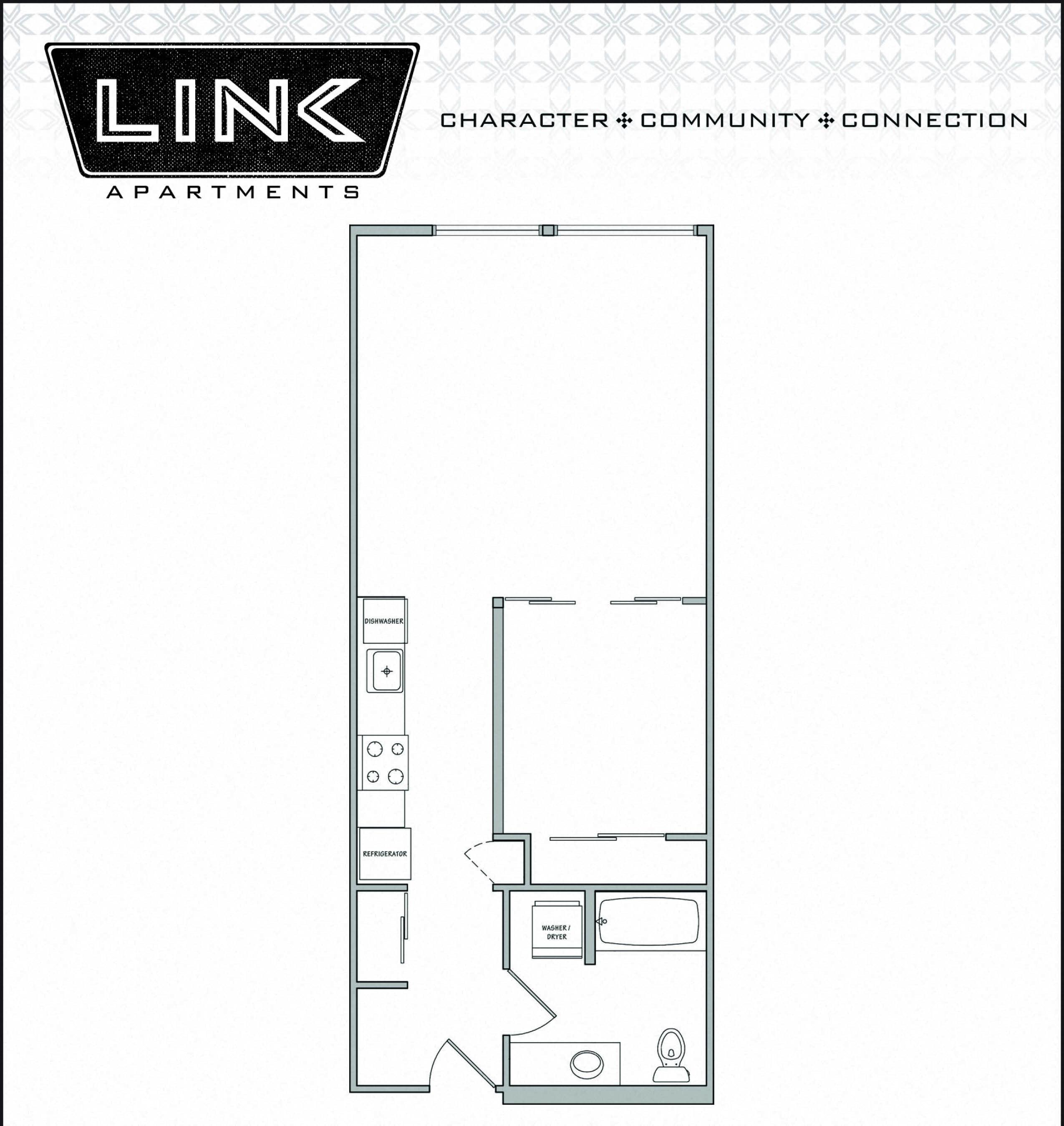 Floorplan at Link Apartment Homes, Seattle, Washington