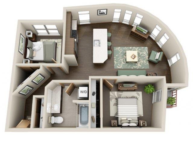 Floorplan at Link Apartment Homes, 4550 38th Avenue SW