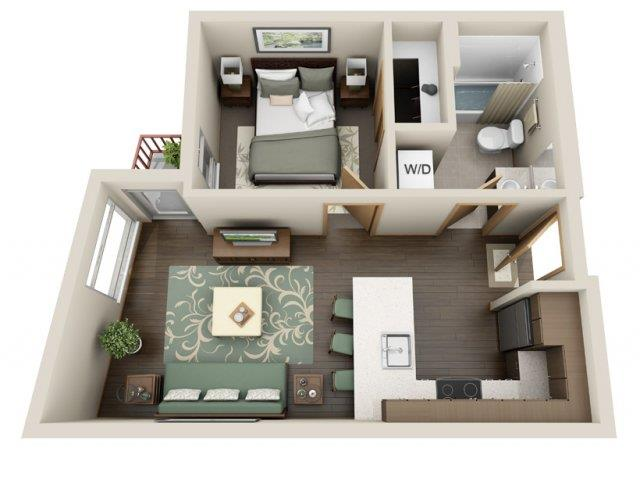 Floorplan at Link Apartment Homes, Seattle, 98126