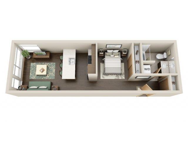 Floorplan at Link Apartment Homes, CA, 98126