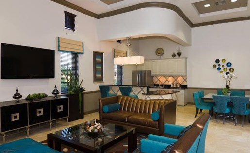 Community Clubhouse at ALARA Links at Westridge Apartment Homes, CA, 91381