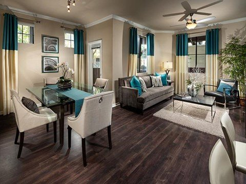 Faux Wood Grain Flooring at ALARA Links at Westridge Apartment Homes, Valencia, CA