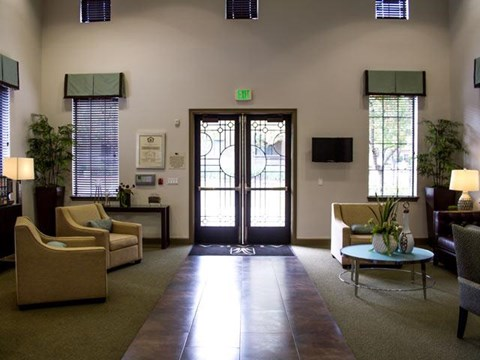 Inside Lobby at ALARA Links at Westridge Apartment Homes, Valencia, California