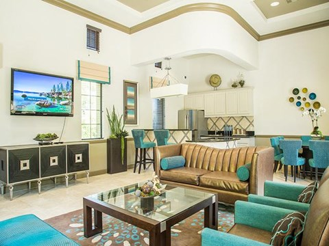 Spacious Conversation Area at ALARA Links at Westridge Apartment Homes, CA, 91381