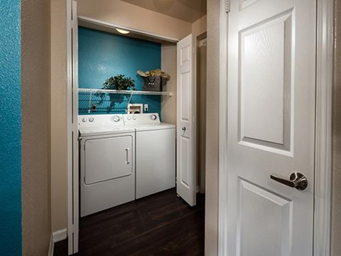 Full-size washer and dryer at ALARA Links at Westridge Apartment Homes, California, 91381