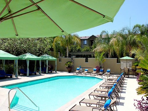 Resort class heated swimming pool  at ALARA Links at Westridge Apartment Homes, CA, 91381