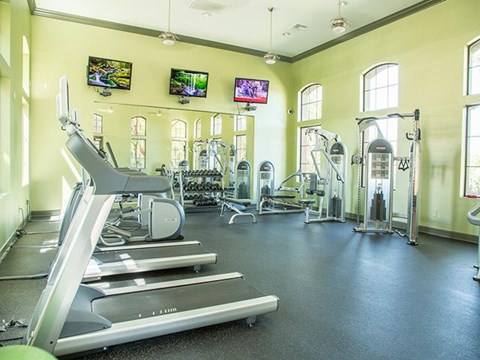 State-of-the-art fitness center at ALARA Links at Westridge Apartment Homes, Valencia, CA