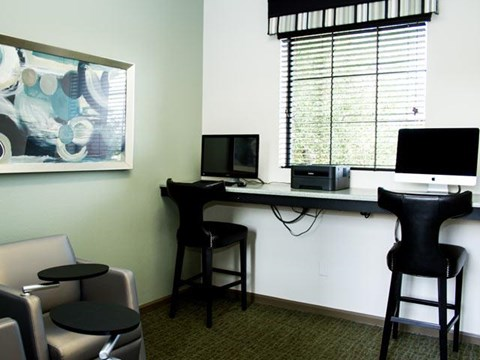 The Internet Café with Wi-Fi Hotspot at ALARA Links at Westridge Apartment Homes, Valencia, 91381