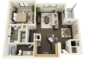 Floorplan at ALARA Links at Westridge Apartment Homes, Valencia, 91381