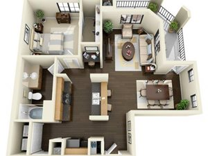 Floorplan at ALARA Links at Westridge Apartment Homes, California, 91381