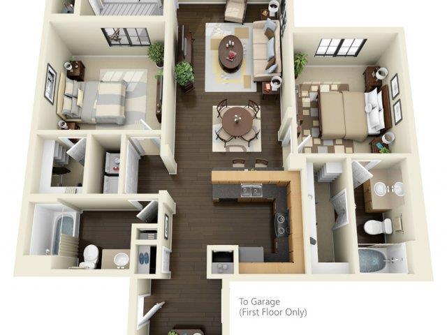 Floorplan at ALARA Links at Westridge Apartment Homes, Valencia, California