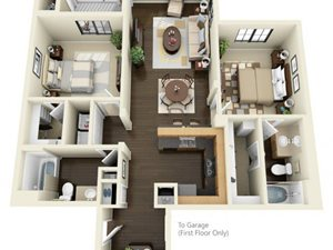 Floorplan at ALARA Links at Westridge Apartment Homes, Valencia, California
